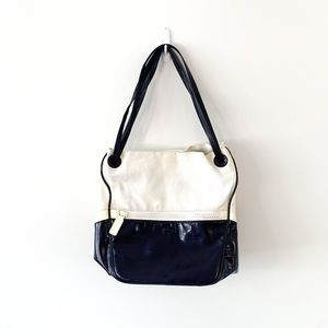 Lacoste White Eclipse/Purple Bucket Bag